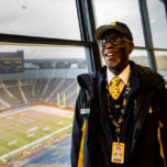 Deano Cook at Michigan Stadium. (photo by Taylor Baucom/The Players' Tribune)