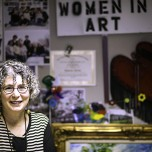 Elaine Sims, director of the Gifts of Art program at the University of Michigan Health System, thought she'd end up in the sciences, which, in a way, she did.
