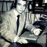 Joe Moffatt shown here in his role as a WQRS disc jockey.